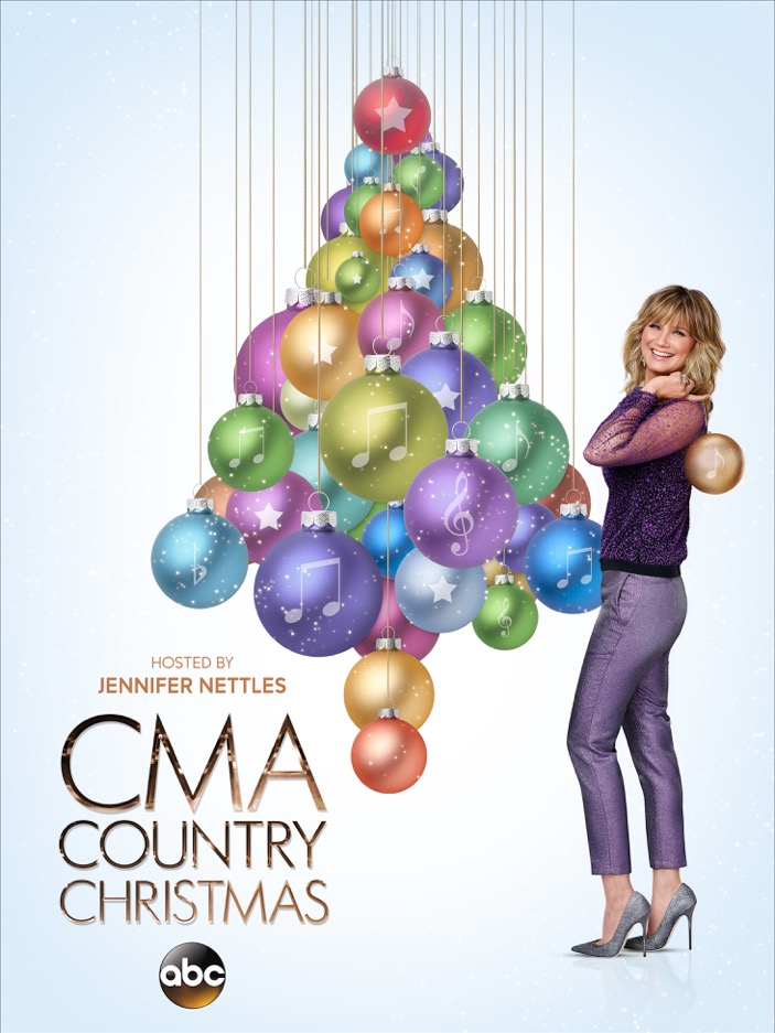 CMA Country Christmas key art with Jennifer Nettles