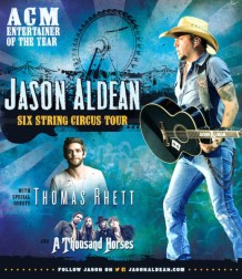 Jason Aldean on the road with his Six String Circus Tour