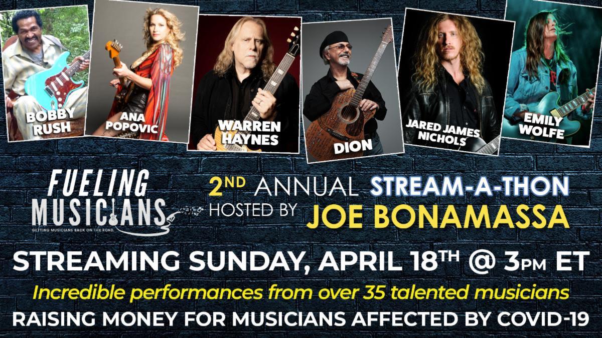 Joe Bonamassa 2nd Annual Stream-A-Thon