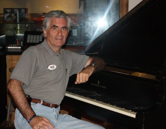 Your tour guide at the 1942 Steinway at Studio B in Nashville. Played previously by some guys named Floyd Cramer and Elvis.