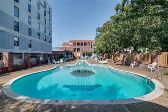 The pool at Spence Manor on Music Row. You can still rent 'The Elvis Suite' on the top floor!