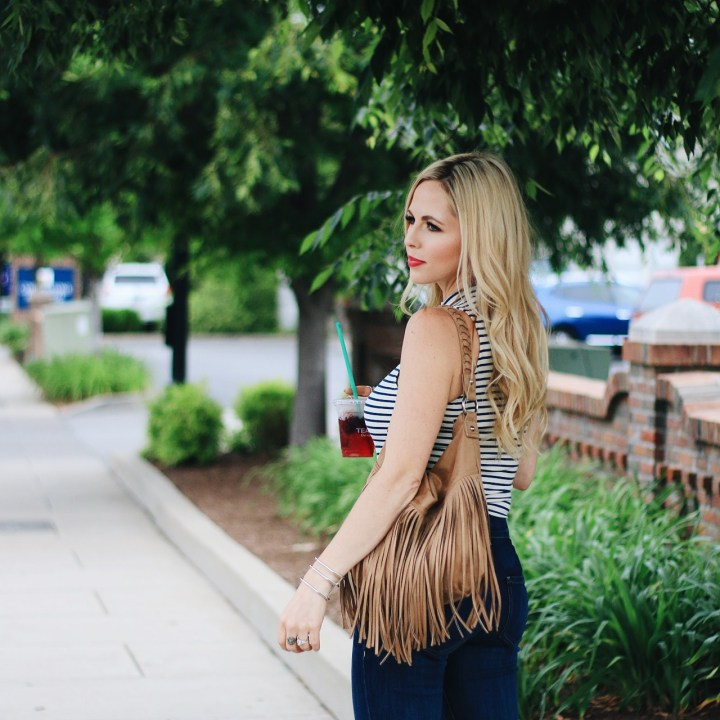 What to Pair With A Striped Bodysuit by Nashville fashion blogger Nashville Wifestyles