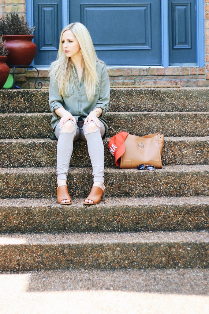 Boyfriend Shirt, Ripped Jeans & an Aviate Hat: My Favorite Things by Nashville fashion blogger Nashville Wifestyles