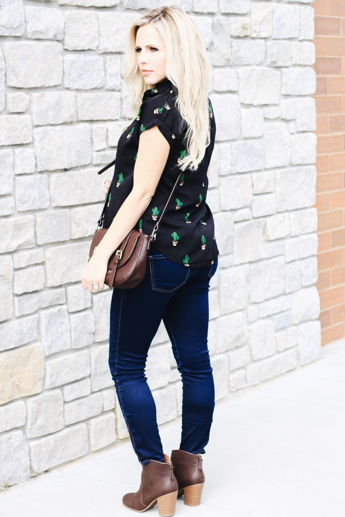 Can't Help Myself, I'm Swooning Over This Cactus Shirt by popular Nashville fashion blogger Nashville Wifestyles