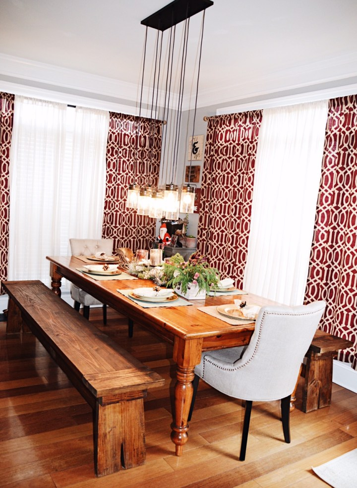 rustic kitchen. farmhouse table