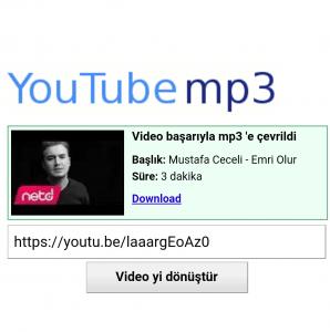 youtube-mp3 dönüştürücü