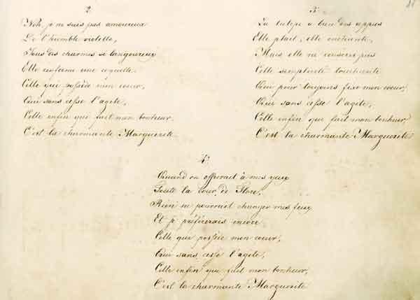 [Лист 11] А.А.Тучков (?). La Marguerite. Стихи на французском языке. 1802. Автограф рукой неизвестного (А.Г.Вейрауха?). 1822–1824