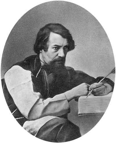 А.С.Хомяков. Конец 1840-х–начало 1850-х годов. Литография с дагеротипа (зеркальное воспроизведение). Музей ИРЛИ