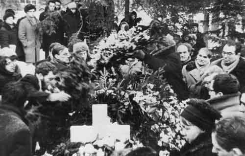 У могилы Ахматовой