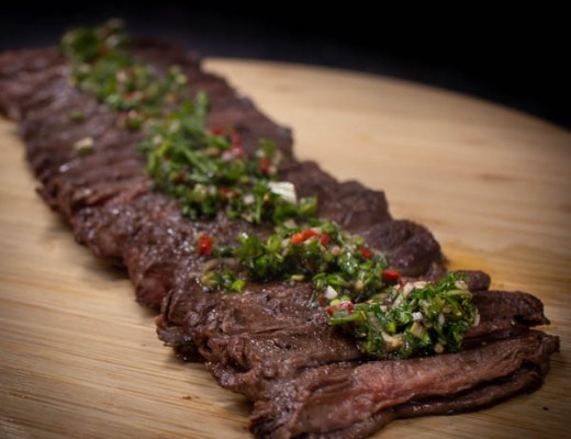 Inside skirt steak met chimichurri