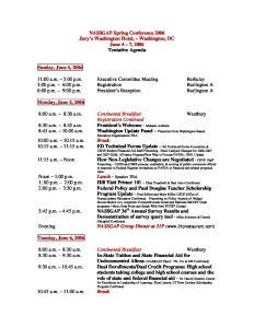 2006 Spring Conference Tentative Agenda 030806 pdf 1 232x300 - 2006-Spring-Conference-Tentative-Agenda_030806
