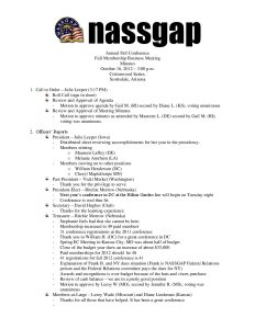 NASSGAP Business Meeting Minutes 10 16 12 pdf 1 - NASSGAP-Business-Meeting-Minutes-10-16-12-pdf-1