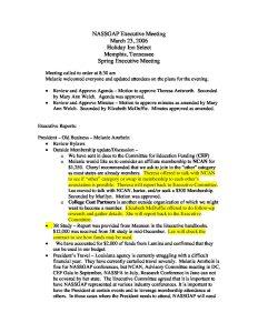NASSGAP Executive Meeting Minutes 3232006 pdf 1 - NASSGAP-Executive-Meeting-Minutes-3232006-pdf-1