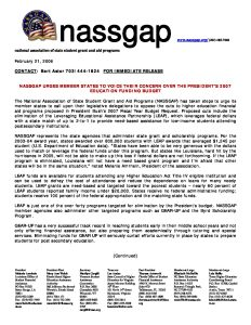 Press Release 2006 NASSGAP pdf 1 - Press-Release-2006-NASSGAP-pdf-1