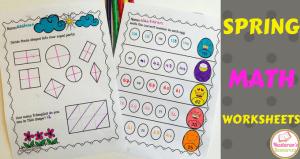 Spring Math Worksheets First Grade