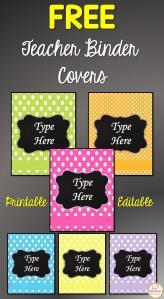 Free Printable Teacher Binder Covers