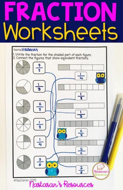 Fraction Worksheets Grade 3 Number Line Activities