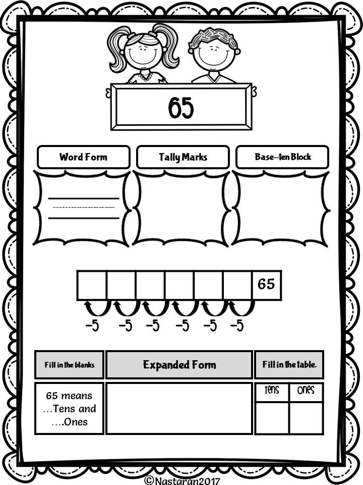 Place Value Worksheets 1st Grade > Nastaran's Resources