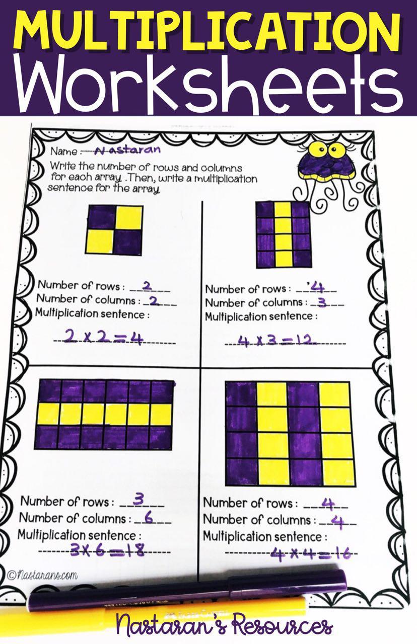 small resolution of Multiplication worksheets 3rd Grade Arrays