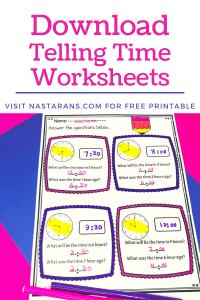 Free Telling Time Worksheet
