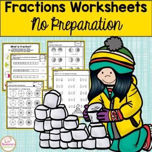 Free Fraction Worksheet no preparation