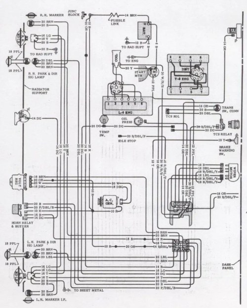 small resolution of 1971 camaro wiring diagram
