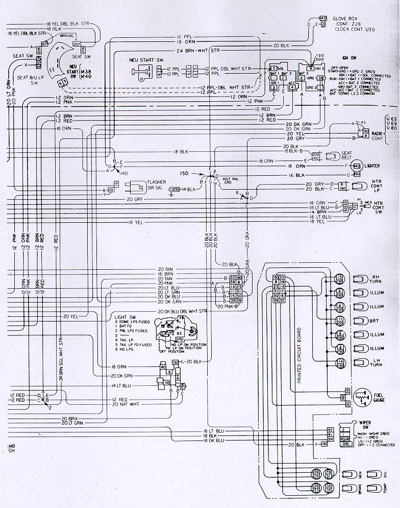 1973 camaro fuse box diagram
