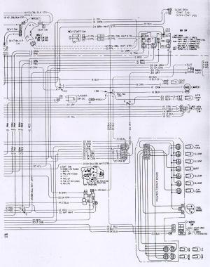 1973 Camaro Dash & Interior Wiring Schematic