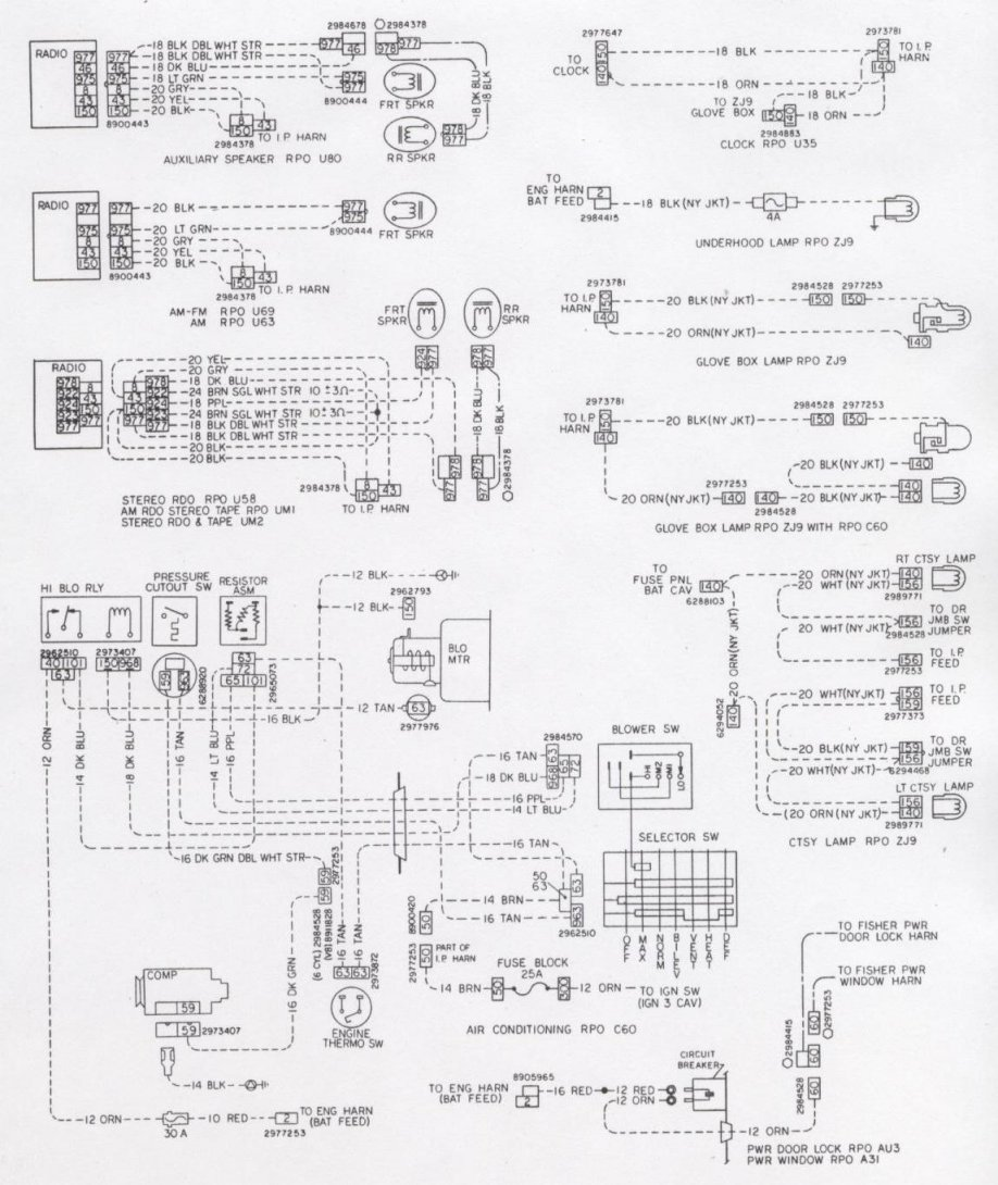 medium resolution of camaro wiring u0026 electrical information72 camaro ignition switch wiring diagram 10