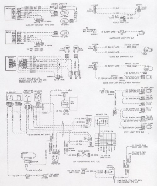 small resolution of camaro wiring u0026 electrical information72 camaro ignition switch wiring diagram 10