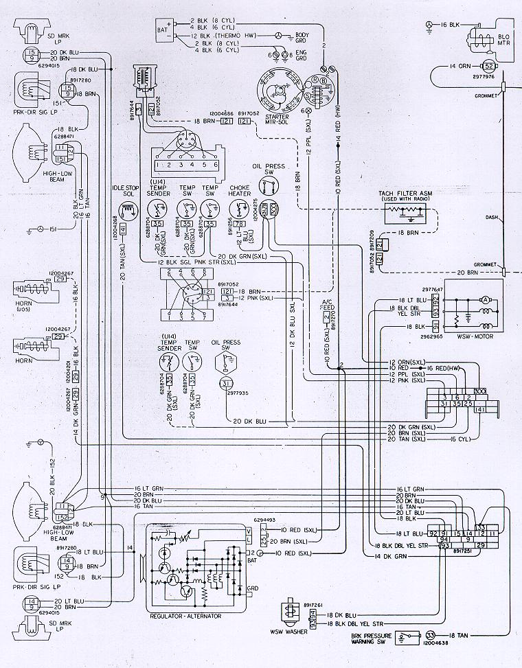 diagram of starter wiring on 1980 camaro