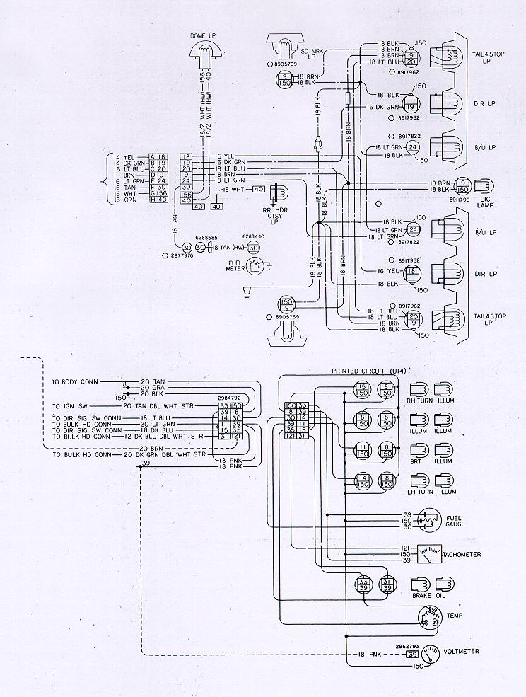 lt1 wiring diagram code alarm pro 1000 camaro electrical information body rear lights 1978