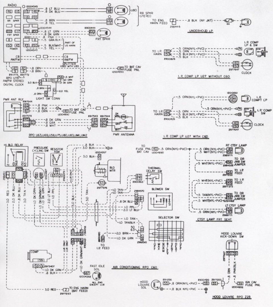 1980 camaro fuse diagram