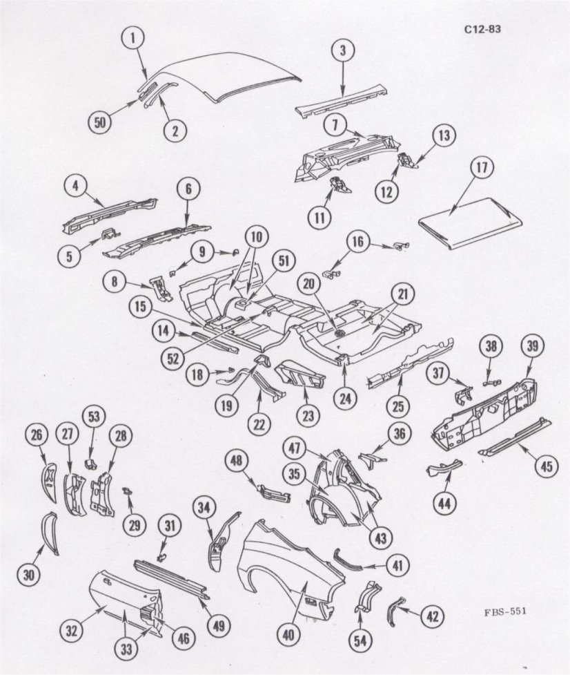 car exterior parts diagram with names banshee wiring body 1980 camaro pdm assembly service info