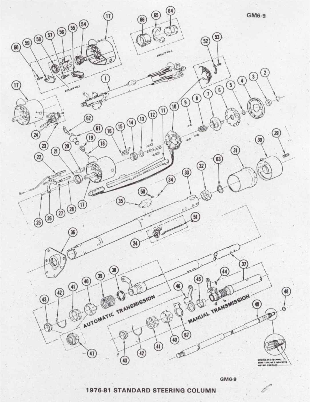 chevrolet alternator wiring diagram 3 wire condenser fan motor 1981 camaro library for gmc std steering column