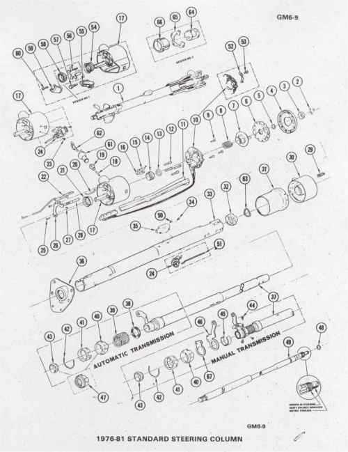 small resolution of 1980 camaro pdm assembly u0026 service infostd steering column