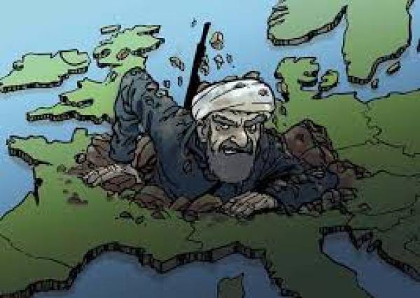 caricatura - musulmanii cuceresc europa
