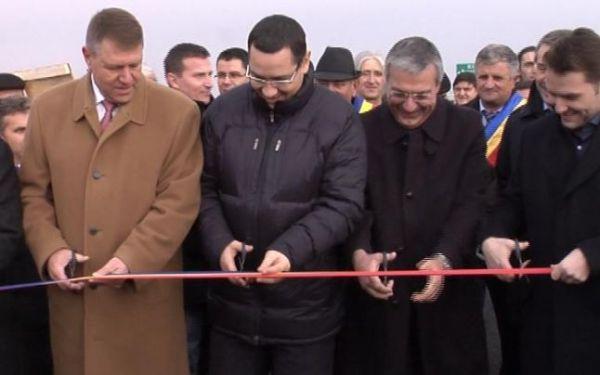 ponta-iohannis-sova- autostrada sibiu orastie-inaugurare