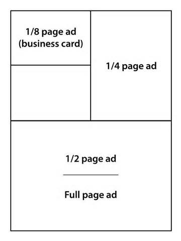 Newsletter advertising- Business card size