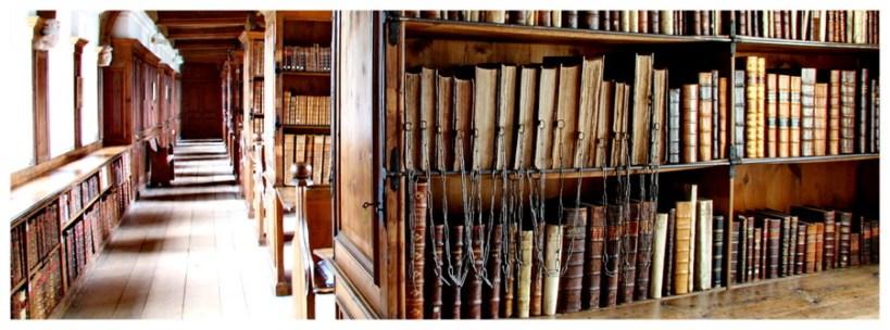 Katedra w Wells zachodnia Anglia niedaleko Bristolu i Bath, biblioteka, książki,