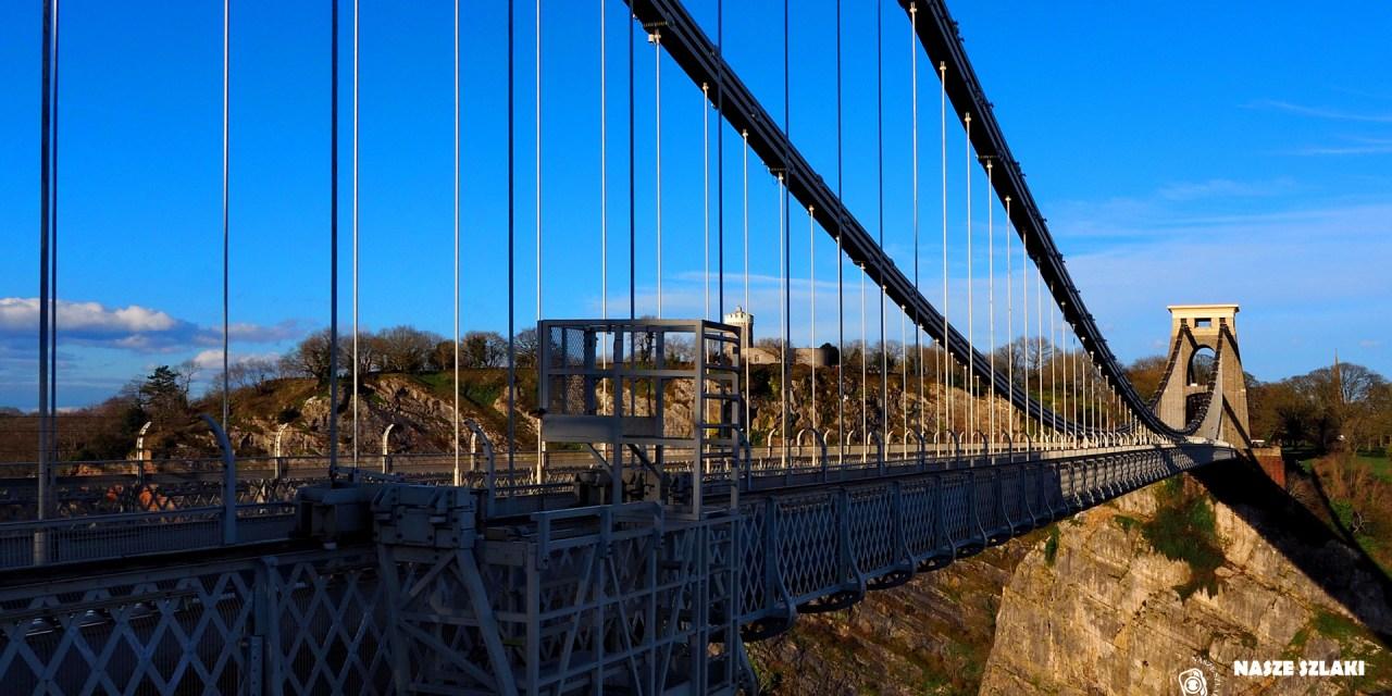 Tapeta z mostem Suspension bridge nad rzeką Avon – Anglia