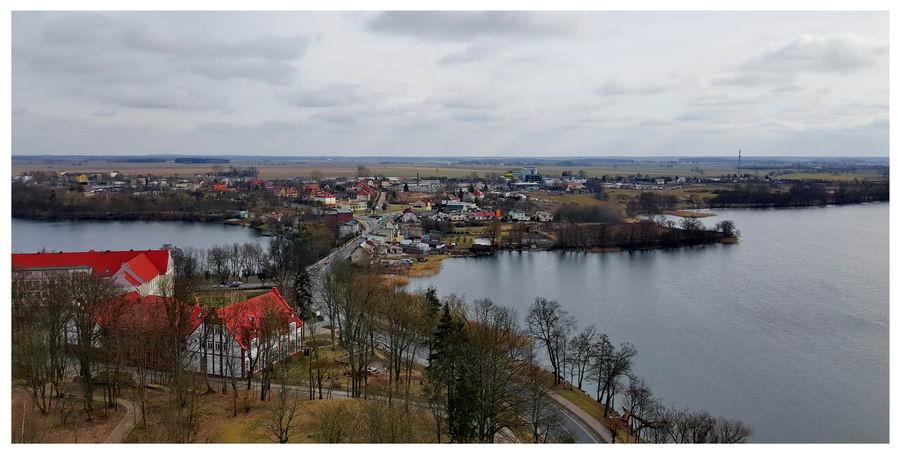 Widok na miasto z zamku w Człuchowie