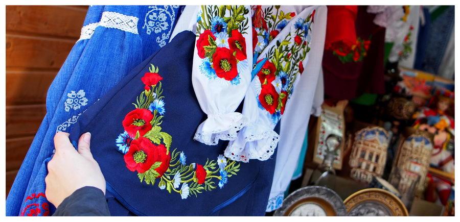Na Lwowskim targu kupić można lwowskie przysmaki oraz tradycyjne przedmioty z Ukrainy