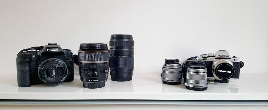 Nowoczesny zestaw fotograficzny jest obecnie dużo mniejszy i lżejszy