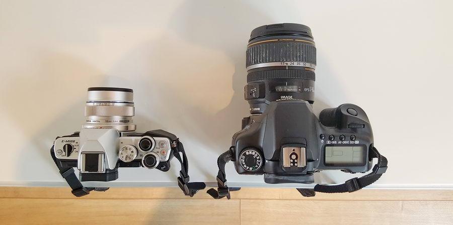 Aparat micro 4/3 Olympus i Canon D40