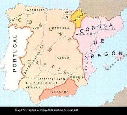 Map Spain before I+F