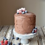 Chocolate Mousse Tower Cake