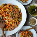 Sweet potato salad with sherry vinaigrette