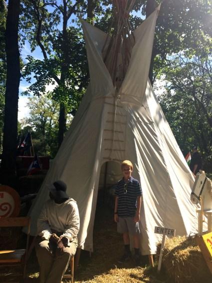 Encampment, Johnny Appleseed Festival, Mama ía