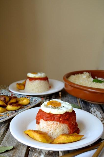 Arroz a la cubana, Rice cuban style, Mama ía blog